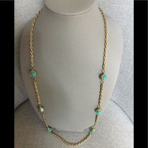 """Gold 34"""" long necklace"""